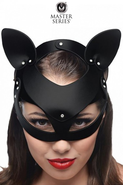 Masque de chat en cuir Bad...