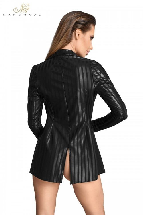 Veste tailleur wetlook à...