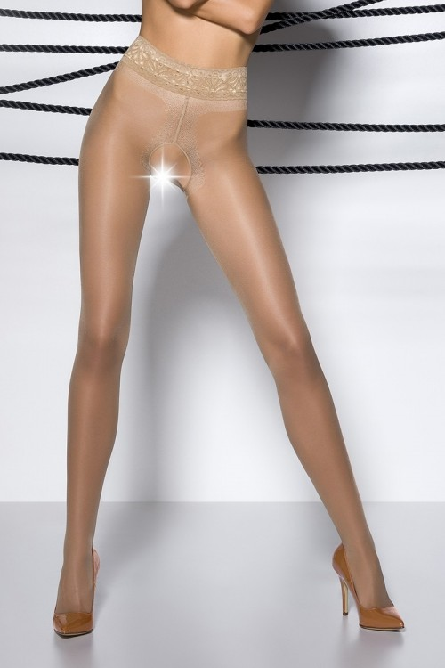 Collants ouverts TI001 - beige