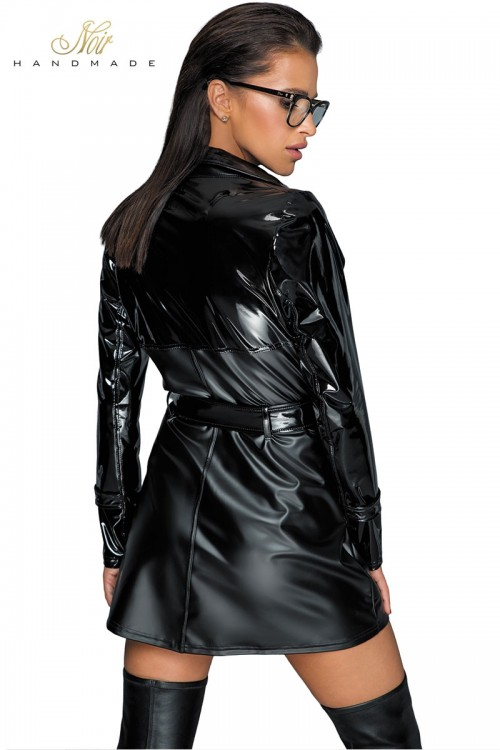 Trench coat wetlook et...